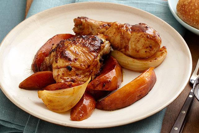Pollo al limón y chile ancho con camotes Image 1