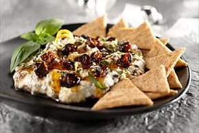 Citrus-Ricotta Spread with Figs, Honey & Basil