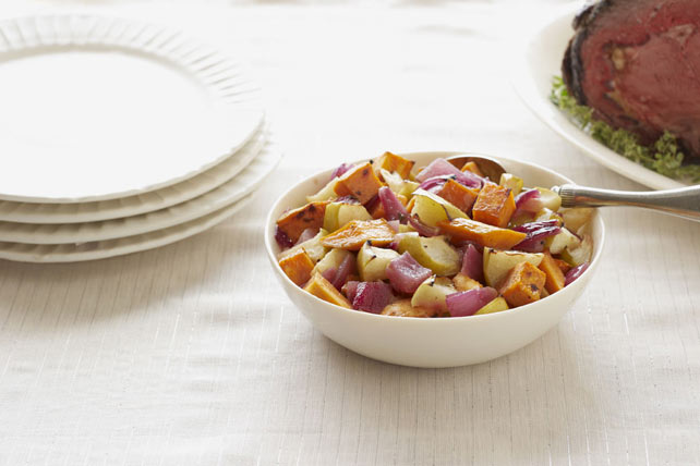 Balsamic Roasted Sweet Potatoes & Apples Image 1
