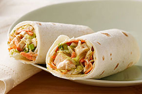 Crunchy Asian Chicken Wraps