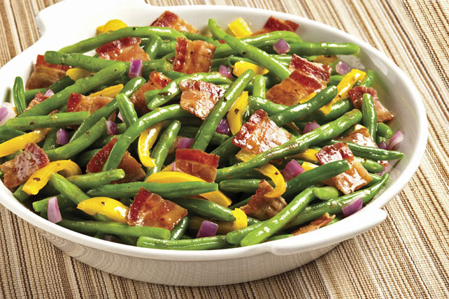 Bacon and Balsamic Green Beans
