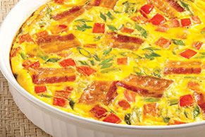 Cheesy Bacon Frittata