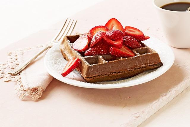 Chocolate Belgian Waffles Image 1