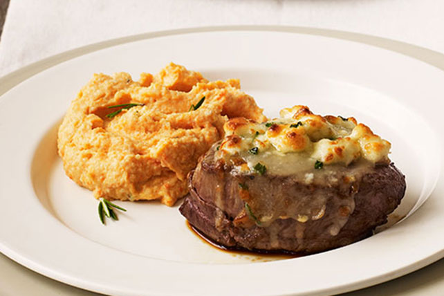 Cheese-Crusted Beef Tenderloin Steaks
