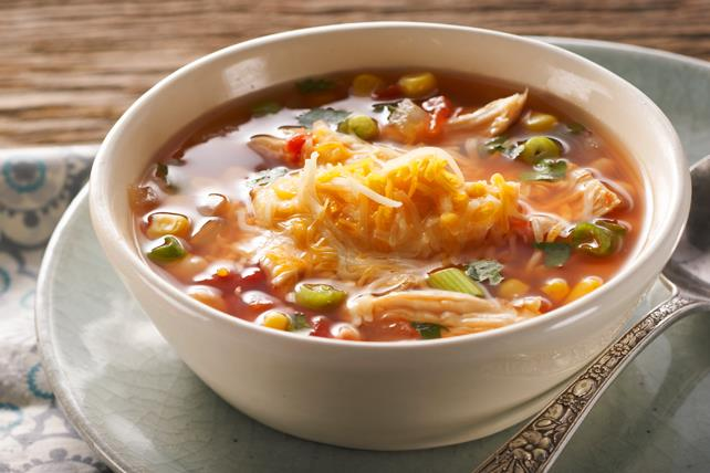 Hearty Mexican Chicken Soup Image 1
