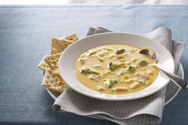 VELVEETA® & Ham Broccoli Soup Image 1