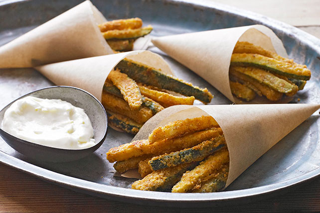 Zucchini 'Fries' Recipe with Lemon Aioli - Kraft Recipes