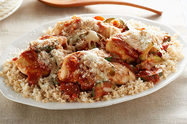 Rustic Parmesan Chicken and Rice