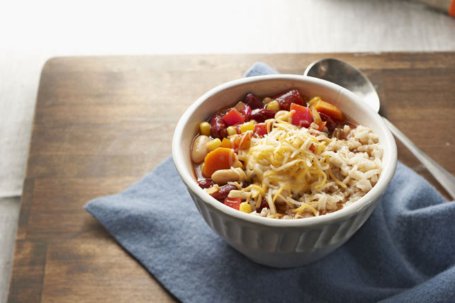 Two-Bean Vegetarian Chili Recipe - Kraft Recipes