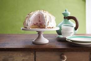 Strawberry Shortcake Baked Alaska