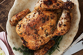 Herb-Roasted Chicken & Polenta