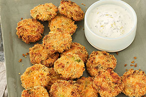 Salmon Cake Minis with Lemon-Dill Aioli