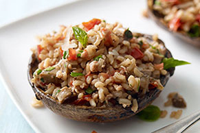 Grilled Stuffed Portobello Mushrooms for Two