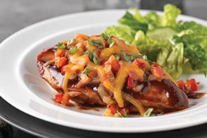 Cheesy Southwest Oven-Baked Chicken for Two