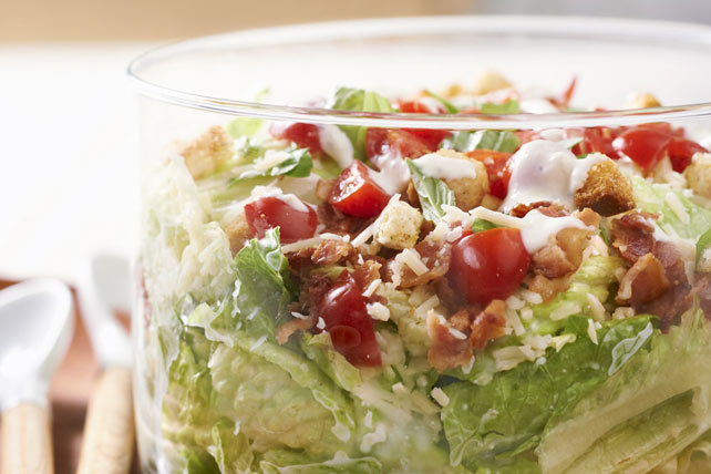 Layered Caesar Bruschetta Salad Image 1