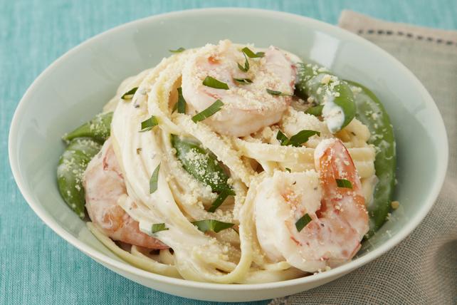 Creamy Garlic & Herb Shrimp Linguine Image 1