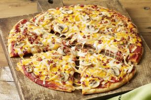 Pizza bacon et champignons