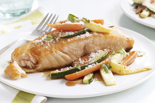 Honey-Balsamic Glazed Salmon Image 1