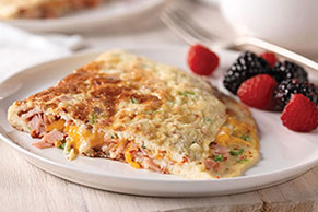 Sun-Dried Tomato, Ham & Cheese Omelet