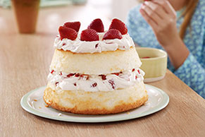 Strawberry & Cream Angel Cake Image 1