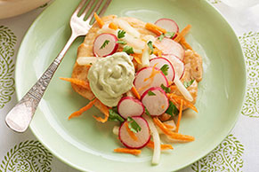 Chicken with Radish-Cucumber Slaw