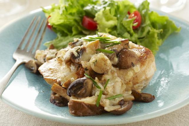 Poêlée de poulet aux champignons façon bruschetta Image 1