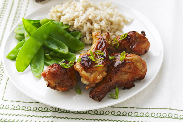 Maple-Glazed Chicken Drummettes