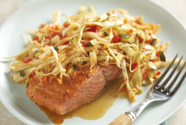 Honey Chipotle Salmon with Vegetables Image 1