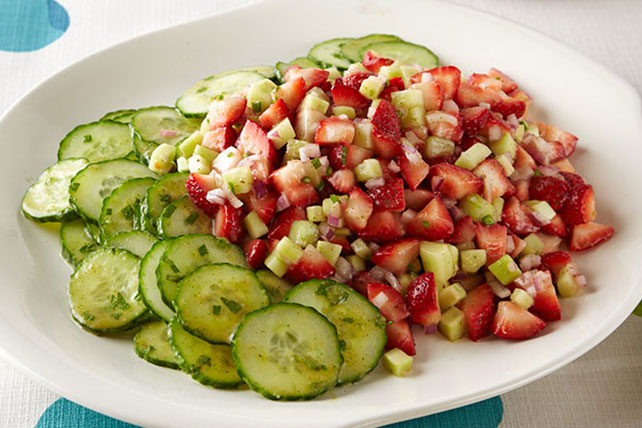 Strawberry, Cucumber & Mint Salad Image 1