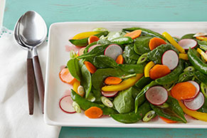 Spinach & Sugar Snap Pea Salad