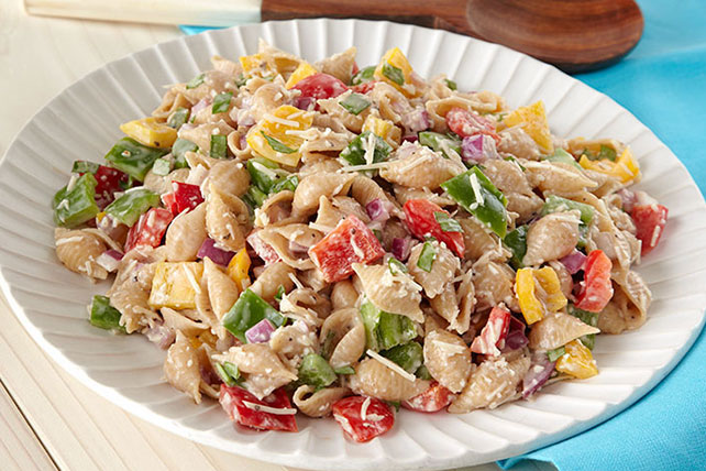 Tri-Pepper Pasta Salad