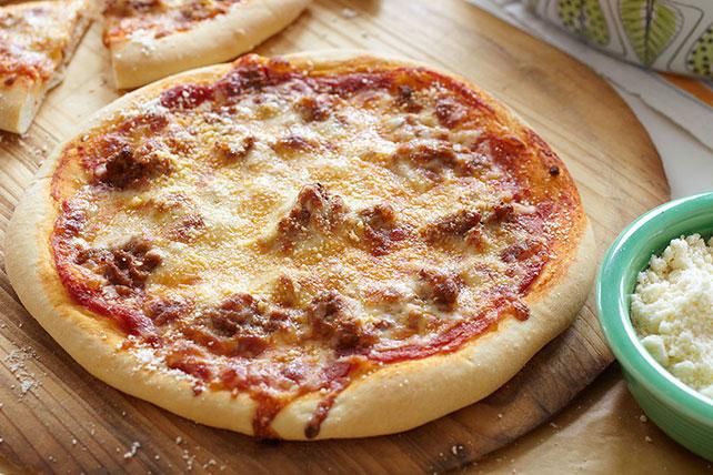 Pizza de carne molida y queso Image 1