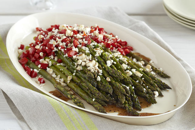 Roasted Asparagus & Peppers with Feta Image 1