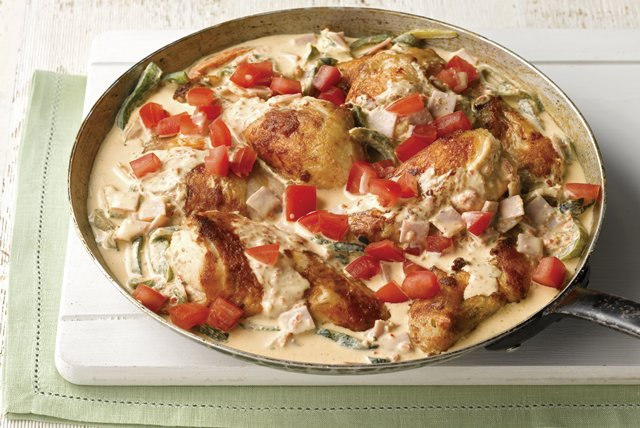 Chicken with Creamy Roasted Poblanos Image 1