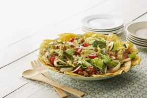 Spring Salad with Chorizo Dressing