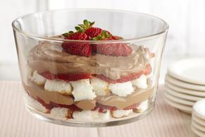 Bagatelle au chocolat et aux fraises