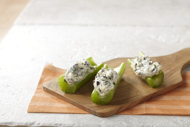 Celery Sticks with Mediterranean Dip Image 1
