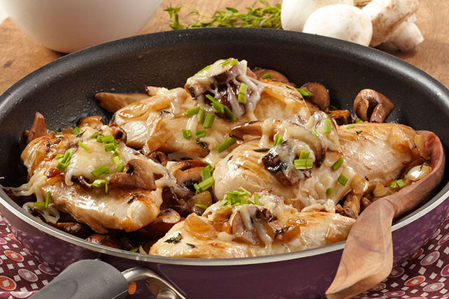 Chicken and Mushrooms Skillet
