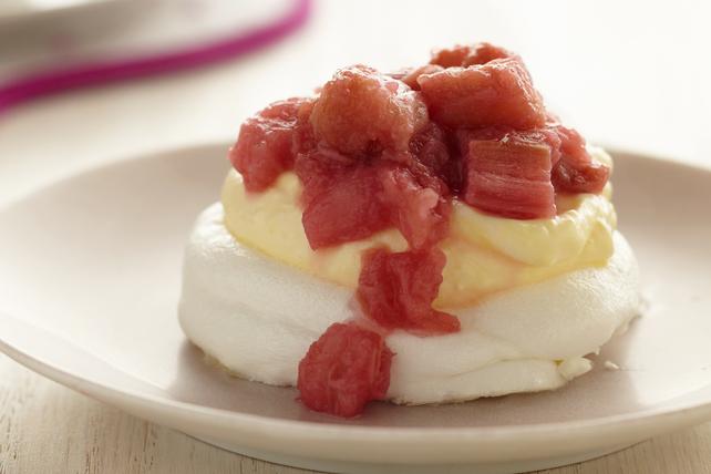 Meringues rhubarbe-vanille Image 1