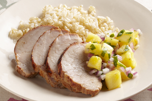 BBQ Pork Tenderloin with Pineapple Salsa