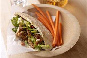 Chicken-Caesar Pita Sandwich