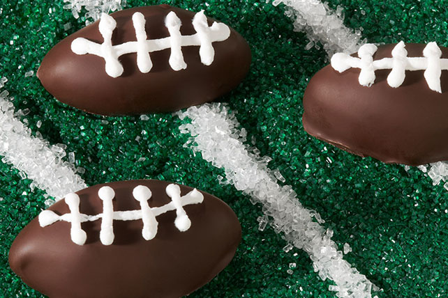 Football OREO Cookie Balls Kraft Recipes Impressive How To Decorate Oreo Balls