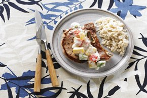 Five-Pepper Pork Chop Skillet