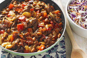 Cowboy Beef and Bean Skillet