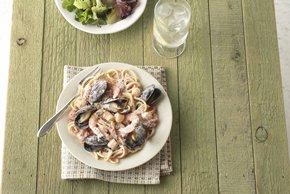 Creamy Seafood Pasta Pomodoro