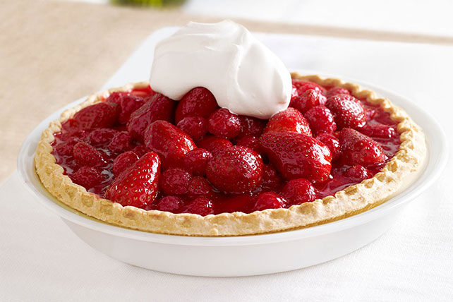 Glazed Red Berry Pie