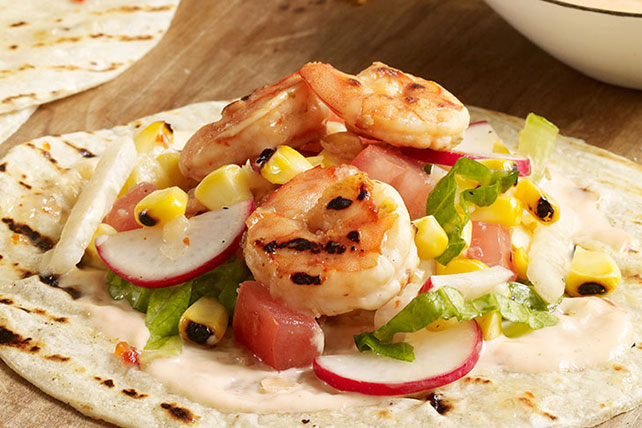Grilled Shrimp Salpicon with Honey-Lime Dressing