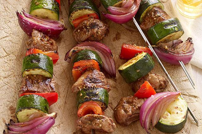 Vegetable & Lamb Kabobs Image 1