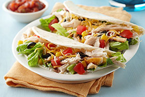 Chicken Taco Salad Foldovers