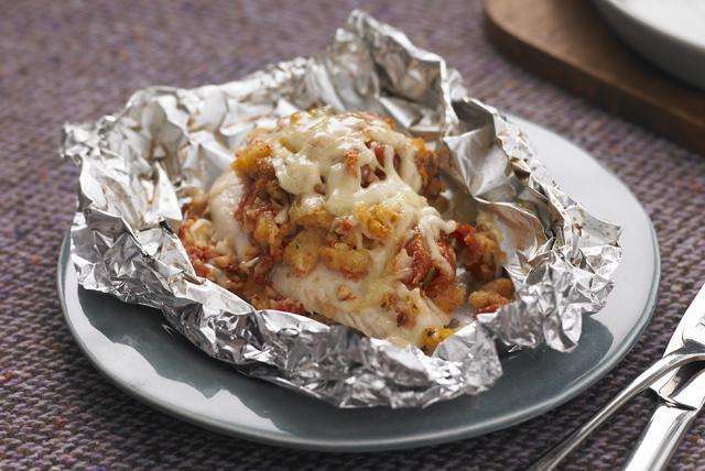 Paquetitos de bruschetta de pollo al horno Image 1